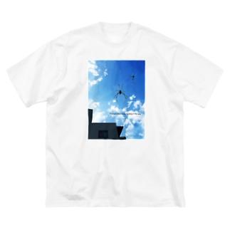 クモと雲(Big Tシャツ) Big silhouette T-shirts