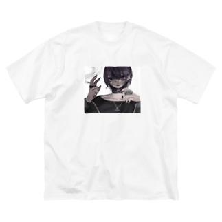 僕と遊ばない? Big silhouette T-shirts