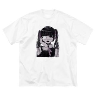 眼帯メイド Big silhouette T-shirts