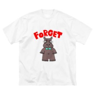 かばくん Big silhouette T-shirts