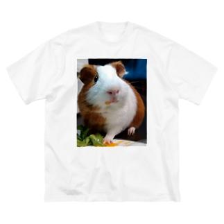 モルモットのNICOくん Big silhouette T-shirts