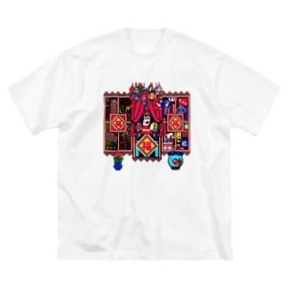 日々福 Big silhouette T-shirts