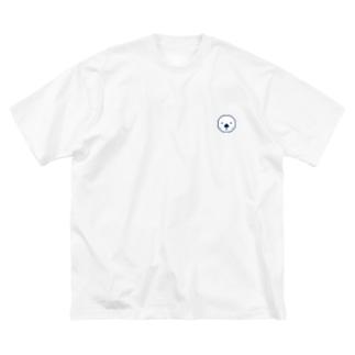 ラッッッコ「ワンポイント(顔アイコン)」 Big silhouette T-shirts