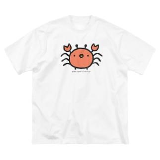 でかめのひよこかに Big silhouette T-shirts
