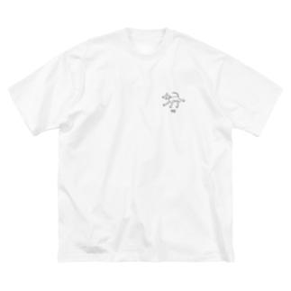 イギー Big silhouette T-shirts