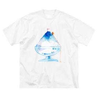 かき氷登山Tシャツ Big silhouette T-shirts