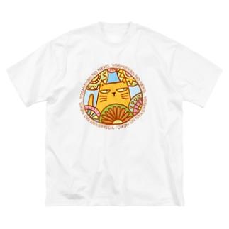 よししゃんのねこ Big silhouette T-shirts