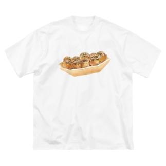 たこやきやで Big silhouette T-shirts