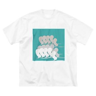 かくれんぼ大好きボウズ! Big silhouette T-shirts