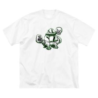 ししんのかめ Big silhouette T-shirts