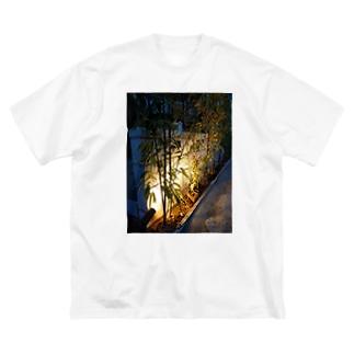 外構工事2 Big silhouette T-shirts