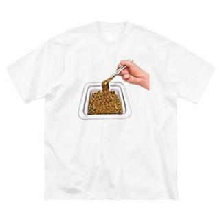 カップ焼きそば Big silhouette T-shirts
