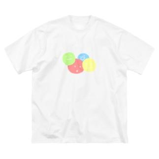 まるっまる Big silhouette T-shirts