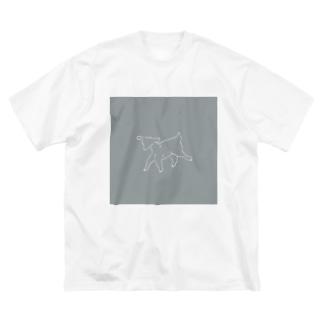 子山羊 Big silhouette T-shirts