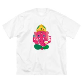 神仏Tシャツ<ガネーシャ> Big silhouette T-shirts