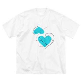 この想いは誰にも負けたりしない。 Big silhouette T-shirts