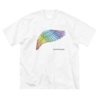 虹色のつばさ Big silhouette T-shirts