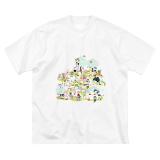 おにぎり祭り2021ver.1 Big silhouette T-shirts