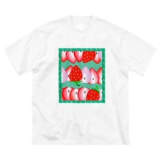 いちご🍓🍓🍓 Big silhouette T-shirts