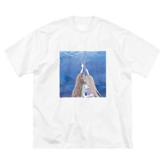 少女たちはイルカの夢を見る Big silhouette T-shirts