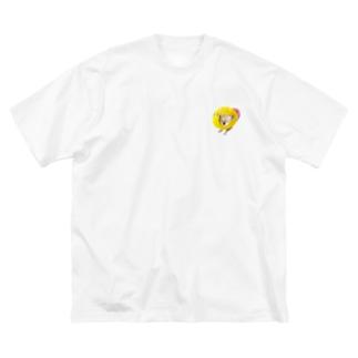 エリザベスカラーのチワワ Big silhouette T-shirts