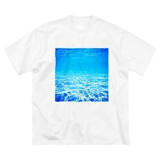 沖縄の海 Big silhouette T-shirts