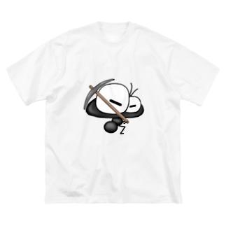 ワン太フルのTシャツ屋さんのありんこ君 つるはし Big silhouette T-shirts