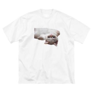 台北貓、イェちゃんです。 Big silhouette T-shirts