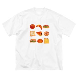 パン9 Big silhouette T-shirts