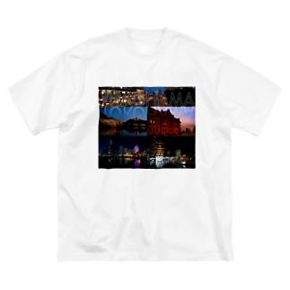 横浜夜景No.01 Big silhouette T-shirts