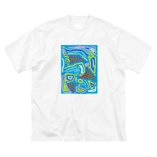 ブルーオーシャン Big silhouette T-shirts