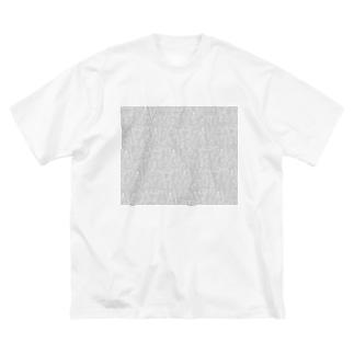 ビーカーくんたちグレー×白 Big silhouette T-shirts