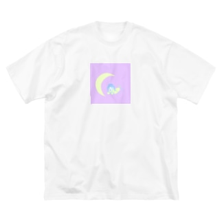 月の子 Big silhouette T-shirts