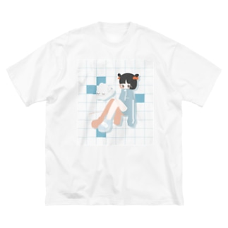 natsumae Big silhouette T-shirts