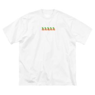 はしるにんぢんず Big silhouette T-shirts