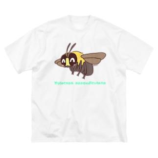 クマバチくん【むしのなかま】 Big silhouette T-shirts