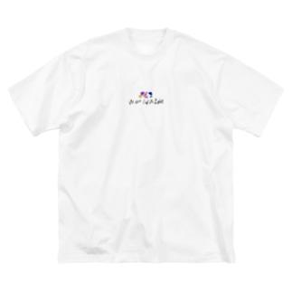 Worldwide イラスト付 Big silhouette T-shirts