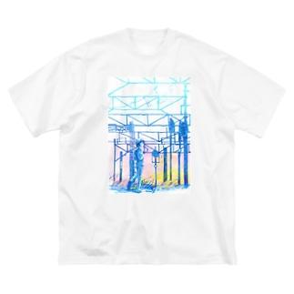 矢ヶ崎第一閉そく信号機(碓氷線) Big silhouette T-shirts