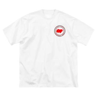 YOKOHAMA KANAZAWA FANTASTIC TOWN(白) Big silhouette T-shirts