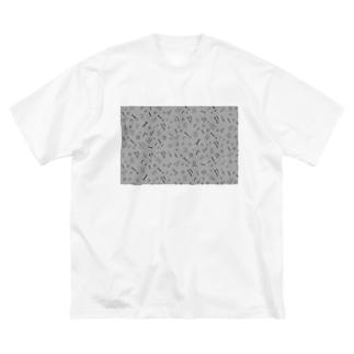 アプレールラッピング(モノトーン) Big silhouette T-shirts