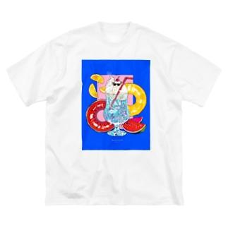 サマーバケーション Big silhouette T-shirts