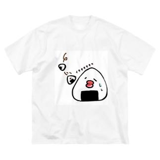すってんころりんっおにぎりまる Big silhouette T-shirts