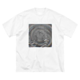 渦巻きノイズ Big silhouette T-shirts