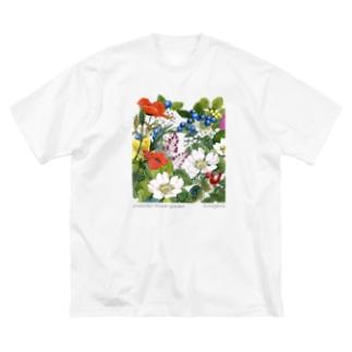 ビッグT シャーロットの花園 Big silhouette T-shirts