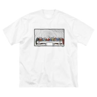 サイゴノバンサン 白Tシャツバージョン Big silhouette T-shirts
