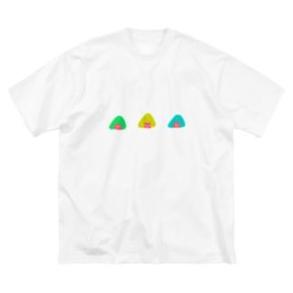 ニコニコおにぎり🍙お祭り価格✨ Big silhouette T-shirts