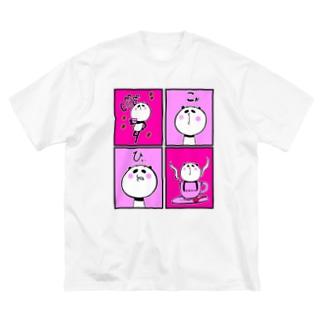 パンダねえさん Coffee コーヒー 珈琲! Big Silhouette T-Shirt