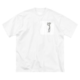 toki.ki106号 Big silhouette T-shirts