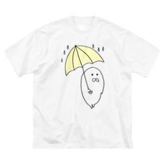 あめふりあざらし Big silhouette T-shirts