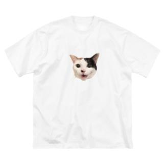 もふりたいこの笑顔 Big Silhouette T-Shirt